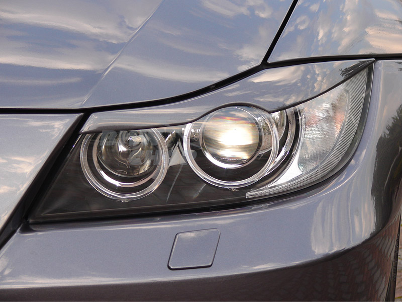 Painted Bmw E90 3 Series Headlight Eyelids Eyebrows Cover Abs New Ebay