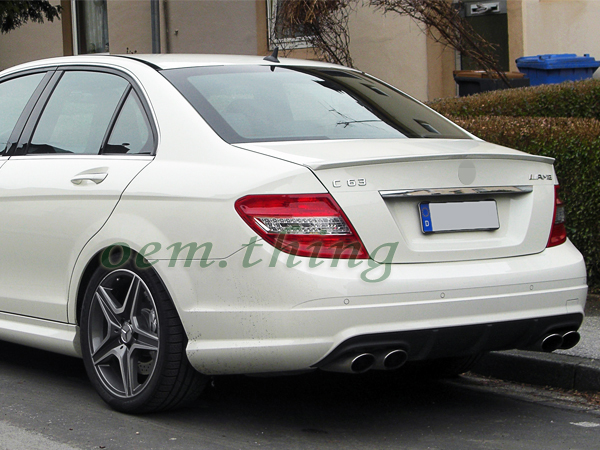 painted for mercedes benz c class w204 sedan a type rear. Black Bedroom Furniture Sets. Home Design Ideas