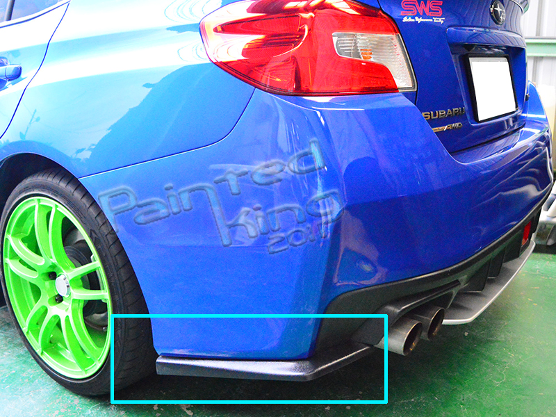 unpainted for subaru wrx sti 4th sedan rear body kit lip. Black Bedroom Furniture Sets. Home Design Ideas