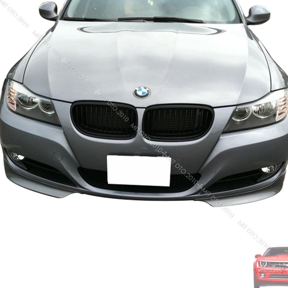 09 11 bmw e90 lci 2pc splitter front bumper lip spoiler. Black Bedroom Furniture Sets. Home Design Ideas